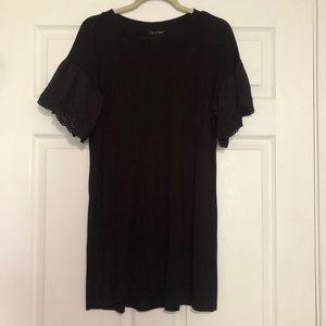 As U Wish black T Shirt Shift Dress Size Small